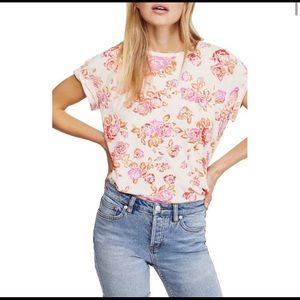 NWT- Free People Floral Top